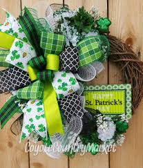 s day wreath deco mesh st s day grapevine wreath st s day