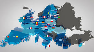 Eu Countries Map 3d Map Of The European Union With All Countries Ordered By Year