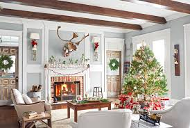 Home Interior Design For Living Room 30 Best Christmas Home Tours Houses Decorated For Christmas