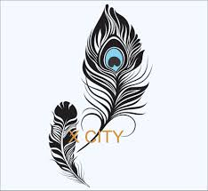popular peacock bedroom decor buy cheap peacock bedroom decor lots peacock feather beautiful amulet creative wall art sticker mural vinyl cut transfer decal home bedroom decoration