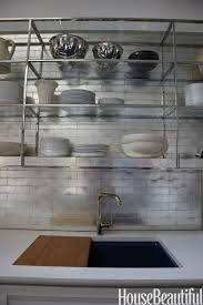 backsplash tile ideas for kitchen subway mirorred glass recycled