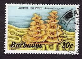 1985 barbados 20c christmas tree worm sg767b fine used r31734 ebay