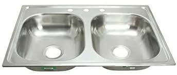 mobile home kitchen sinks 33x19 proplus gidds 2474255 3 hole double bowl kitchen sink for mobile