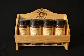 Spice Rack Countertop Decorating Lovable Wooden Spice Rack Furnishing Your Winsome