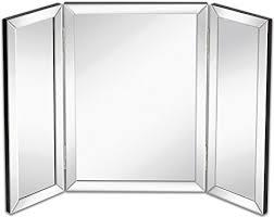 amazon com hamilton hills trifold vanity mirror solid hinged