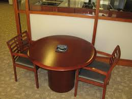 round office table and chairs vecta 42 round conference table executive liquidation quality