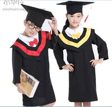 kids cap and gown kids academic dress girl boy graduation gown stage show costume