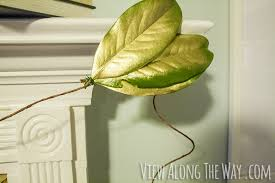 diy gold magnolia garland for