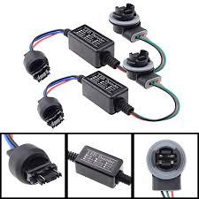 lexus gx470 turn signal socket amazon com 1 pair 3157 b led decoder adaptor anti hyper blinker