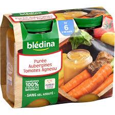 bledina siege social petits pots bébé dès 6 mois aubergine tomate agneau blédina blédina