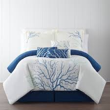 Beautiful Panama Jack Bedroom Furniture by Panama Jack Coral Blue Embroidered 7 Piece Comforter Set Free