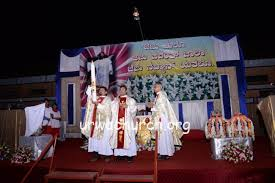 Easter Church Stage Decorations by 2016 Easter Celebrated Immaculate Conception Church Urwa Mangalore