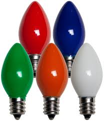 Red Led Light Bulb by C7 Christmas Light Bulb C7 Multicolor Christmas Light Bulbs Opaque