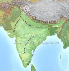 Map Of Asia Labeled by India Physical Map