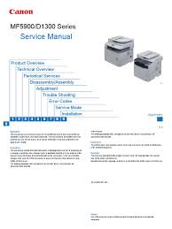 canon mf5900 series service manual signal electrical
