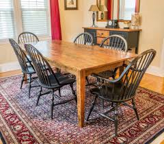 philadelphia farm table dining room traditional with rustic chairs