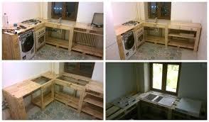 cuisine en palette meuble de cuisine en palette a a palettes fabriquer un meuble de