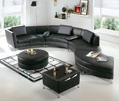 Curved Contemporary Sofa by Interior Modern White Living Room With Black Curved Shaped Sofa