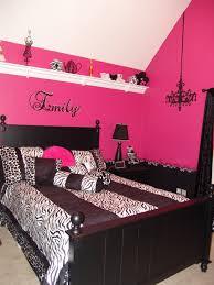 Pink And Black Bedrooms Pink And Black Teen Zebra Girls Bedroom Aubrey U0027s Room Substitute