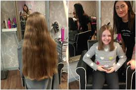 cut and inch off hair schoolgirl sophie hull cut 10 inches off her hair to make wigs for