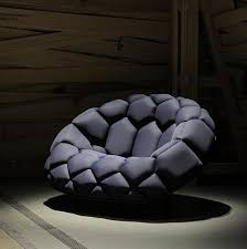 Inflatable Chair And Ottoman by Quilt Inflatable Sofa Looks Like Giant Soccer Ball British Sons