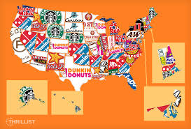 Portland Food Map the fastest growing fast food chain in every state thrillist