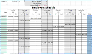 Employee Schedule Template Excel 4 Work Schedule Template Excel Teknoswitch