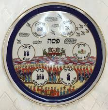 sader plate shalom of safed seder plate from naman porcelain factory all