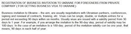 business invitation letter to ukraineinvitation for visa to russia