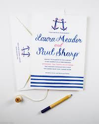 nautical themed wedding invitations nautical wedding invitations with anchor