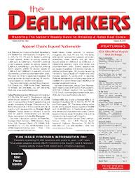 dealmakers magazine august 20 2010 by the dealmakers magazine