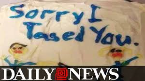 florida cop accused of sending u0027sorry i tased you u0027 cake