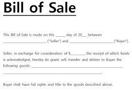 doc 600792 generic bill of sales u2013 bill of sale form 78 more