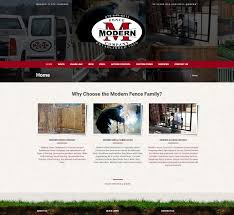 modern fence company hammer solutions inc website design fort