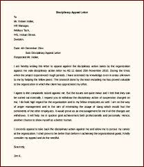 disciplinary appeal letter template free download word template