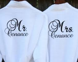 His And Hers Wedding Gifts Mr And Mrs Robes Wedding Gifts For Couple Of 2 Matching