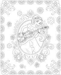 princess elena and storytime guitar disney princess free coloring