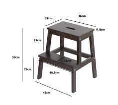 vintage black step stool deco island