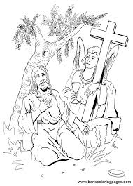 jesus praying in the garden of gethsemane coloring page of jesus