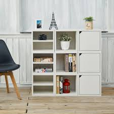 White Storage Bookcase by Tvilum Sonoma Collection Bookcase White Hayneedle