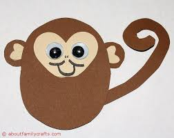 Monkey Paper Plate Craft - how to make paper animals about family crafts