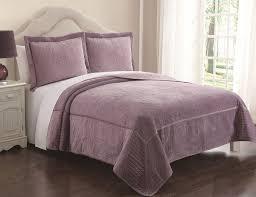 3 piece vanderbilt lavender velvet quilt set