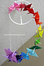 origami crane rainbow mobile sugar bee crafts