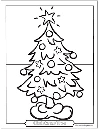 christmas tree coloring page printable christmas tree coloring pages