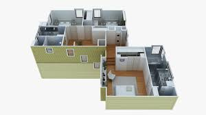 Simple One Story House Plans by 3d Home Plans Two Bathrooms With Five Beds Seems A Little