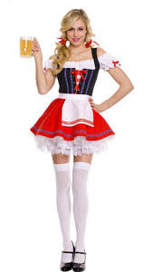 oktoberfest costume lace up front german wench