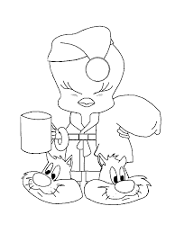 tweety bird coloring pages surrounded stars coloringstar