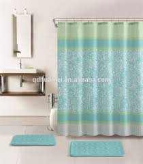 Shower Curtain Rings Walmart Bathroom Mesmerizing White Green Walmart Shower Curtains And