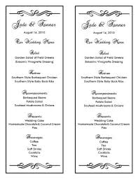 Wedding Program Templates Free Download Wedding Menu Template Wedding Menu Template 3 Wedding Menu