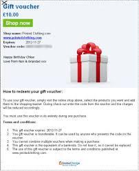 gift voucher sample